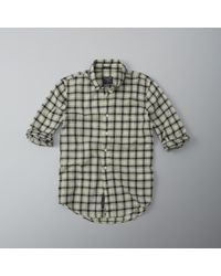 Abercrombie & Fitch - Black Plaid Gauze Shirt for Men - Lyst