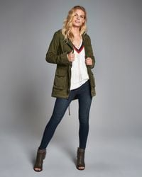 Abercrombie & Fitch | Multicolor Twill Parka | Lyst
