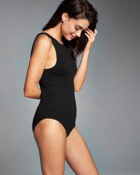 Abercrombie & Fitch - Black Strappy Back Bodysuit - Lyst