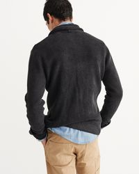 Abercrombie & Fitch - Gray Shawl Cardigan for Men - Lyst