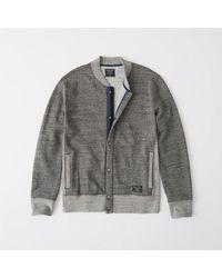 Abercrombie & Fitch - Gray Varsity Baseball Jacket for Men - Lyst