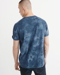 Abercrombie & Fitch - Blue Indigo Tie-dye Henley for Men - Lyst