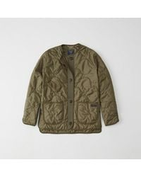 Abercrombie & Fitch - Green Quilted Lightweight Jacket - Lyst