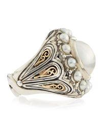 Konstantino   Metallic Circle Pearl Ring   Lyst