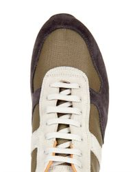Moncler | Green Montego Suede Sneakers for Men | Lyst