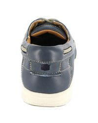 Florsheim   Blue Lakeside Leather Oxford Boat Shoes for Men   Lyst