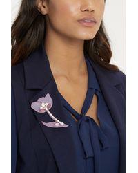 Oasis   Pink Perspex Flower Brooch   Lyst