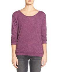 Velvet By Graham & Spencer - Purple Heather Knit Twist Back Top - Lyst
