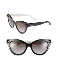 Valentino | Black 'rockstud' 53mm Cat Eye Sunglasses | Lyst