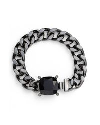 Lauren by Ralph Lauren | Black 'curb Cushion' Bracelet | Lyst