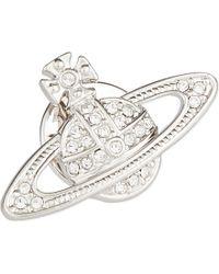 Vivienne Westwood | Metallic Bas Relief Diamanté Orb Pin | Lyst