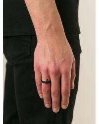 Ann Demeulemeester | Black Bone Detail Ring for Men | Lyst
