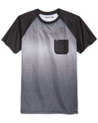 Hurley | Black Collective Fade Crew T-shirt for Men | Lyst