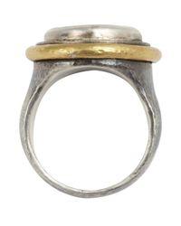 Gurhan   Metallic Paua Shell And Silver 'gauntlet' Ring   Lyst