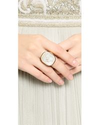Vivienne Westwood - Metallic Gerlinde Ring - White Mop/Yellow Gold - Lyst