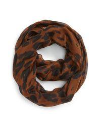 BP - Brown Leopard Print Infinity Scarf - Lyst