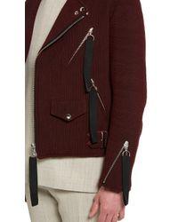 Matthew Miller - Purple Burgundy Kvadrat Biker Jacket for Men - Lyst