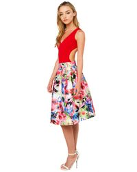 Gracia - Multicolor Floral Party Multi Floral Print Midi Skirt - Lyst