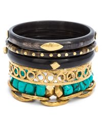 Ashley Pittman - Blue 'cattle Horn' Bangle - Lyst