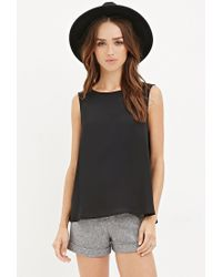 Forever 21 | Black Flared Chiffon Top | Lyst