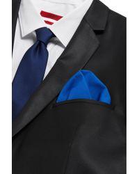 HUGO - Blue Plain Pocket Square In Cotton: 'pocketsquare 33x33cm' for Men - Lyst