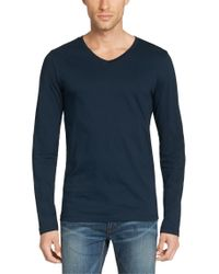HUGO - Blue Slim-fit Long-sleeve Shirt In Pure Cotton: 'dan' for Men - Lyst