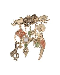 TOPSHOP - Metallic Freedom Found Collection Zoo Animals Brooch - Lyst