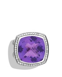 David Yurman - Metallic Albion Ring With Amethyst & Diamonds - Lyst