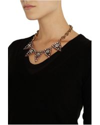 Lulu Frost   Metallic Galaxy Gold Plated Crystal Necklace   Lyst