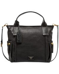 Fossil - Black Emerson Leather Satchel - Lyst