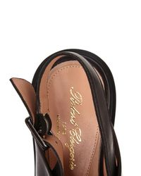 Robert Clergerie - Black Caliente Leather Flat Sandals - Lyst