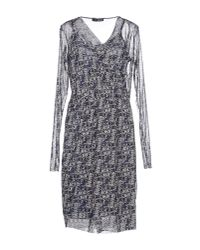 Liu Jo - Gray Short Dress - Lyst