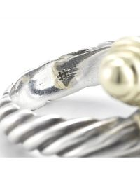 David Yurman - Metallic Pre-owned Cable Ring in 14ky  Sterling Silver - Lyst