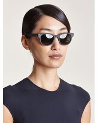 Oliver Peoples - Women'S Afton Matte Black Sunglasses - Lyst