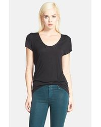 Trouvé | Black 'easy' V-neck Tee | Lyst
