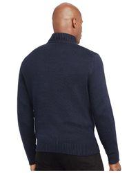 Polo Ralph Lauren | Blue Big & Tall Half-zip Mockneck Sweater for Men | Lyst