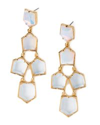 Lele Sadoughi | White Iridescent Prism Chandelier Earrings | Lyst