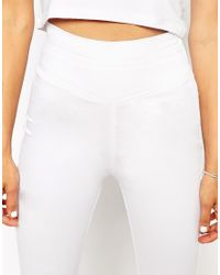 ASOS | White Skinny Trousers With Extreme High Waist | Lyst