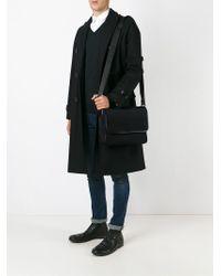 Emporio Armani - Black Foldover Top Messenger Bag for Men - Lyst