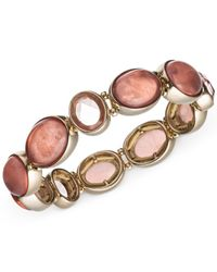 Jones New York | Pink Gold-tone Stretch Bracelet | Lyst