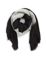 Alexander McQueen - Black 'Degrade' Skull Scarf for Men - Lyst