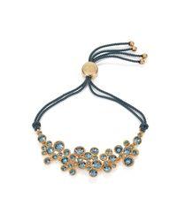 Caroline Creba - Metallic Swarovski Crystal Bracelet Gold & Blue - Lyst