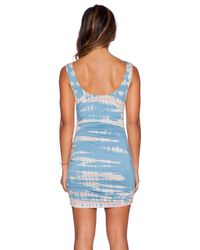Gypsy 05 - Blue Bamboo Shirred Wrap Dress - Lyst