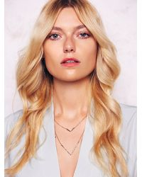 Free People - Metallic Phyllis + Rosie Jewelry Womens Double V Necklace - Lyst