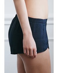 Forever 21 | Black Silky Pj Shorts | Lyst