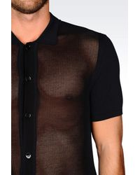 Emporio Armani - Blue Polo-neck for Men - Lyst