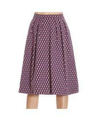 Pinko - Purple Skirt - Lyst