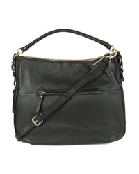 Kate Spade | Black Ella Leather Large Crossbody Bag | Lyst