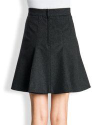 Dolce & Gabbana Black Wool Cashmere Pleated Skirt