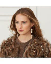 Ralph Lauren - Natural Antler Drop Earrings - Lyst